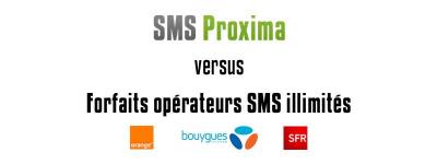 SMS PRO vs Forfaits SMS illimités des opérateurs