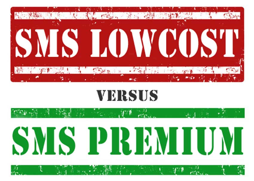 SMS lowcost et SMS premium